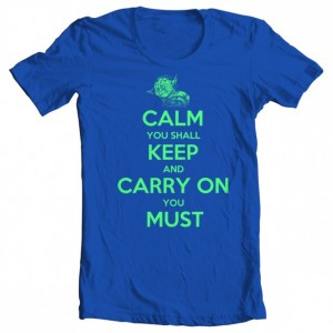 "Boys' Star Wars ""Calm You Shall Keep, Carry On You Must"" Tee"
