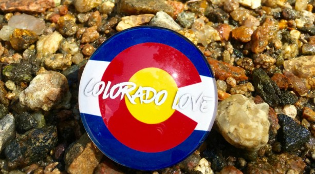 Colorado Love Large Magnet, Colorado Native, Colorado Pride, Colorado Flag, Magnetic Board, Memory Board, Locker, Office, Cubicle,