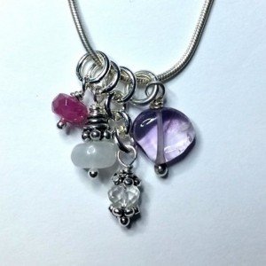Menopause Relief – Gemstone and Sterling Silver Charm Necklace
