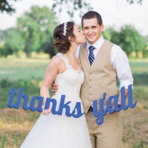Thanks Y'all Sign Prop for Wedding Photography TYL200-P1
