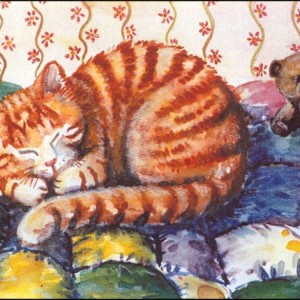 Sleeping Cats STATIONERY NOTE CARDS