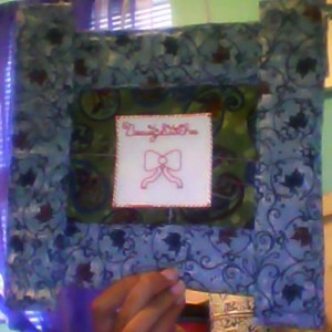 BeautyStitches Coaster Designs: Bow (framed)