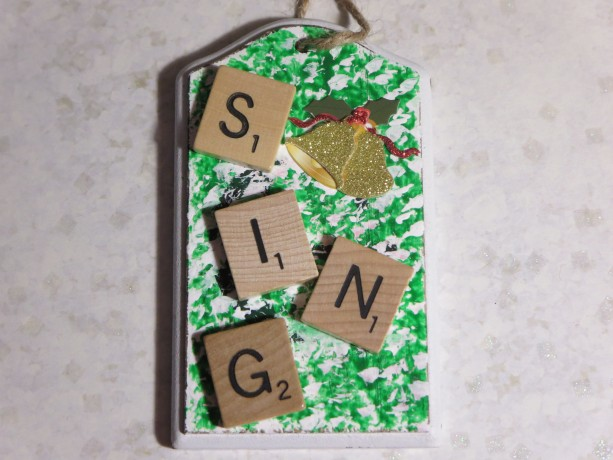 Scrabble® Game Tile Christmas Ornament (FREE SHIPPING!) Sing