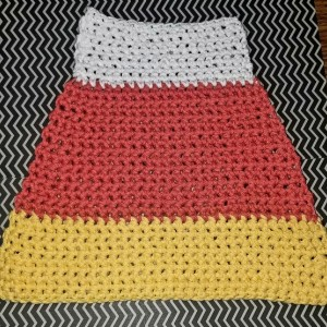 Candy Corn Dishcloth/ Washcloth
