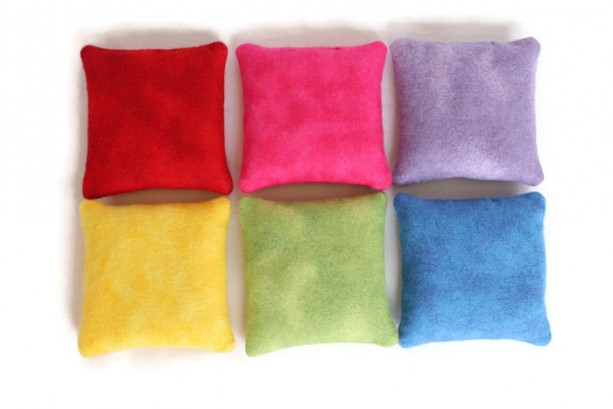 Flannel Rainbow Square Bean Bags Set Of 6 Aftcra
