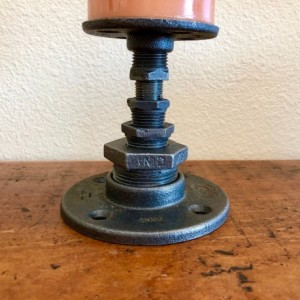 Black Pipe Candle Holder, Single Pillar Candle Holder (Included) Perfect gift idea!