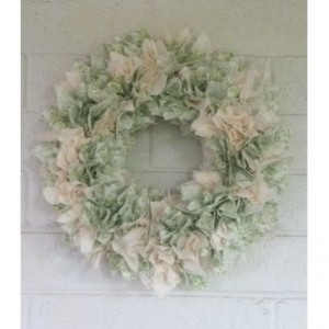Vintage Front Door Wreath, Door Wreath, Vintage Wreath