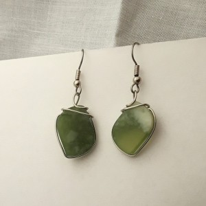 Green Serpentine Earrings