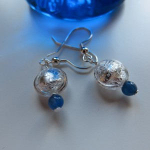 Snow Drops with Kyanite Earrings