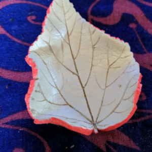 Handcrafted Clay Leaf Jewelry Trinket Dish