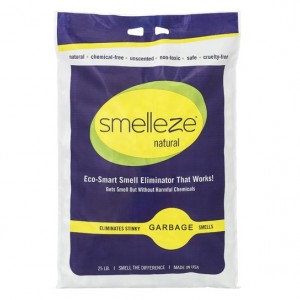SMELLEZE Natural Garbage Smell Deodorizer Granules: 25 lb. Bag Sprinkle on Garbage
