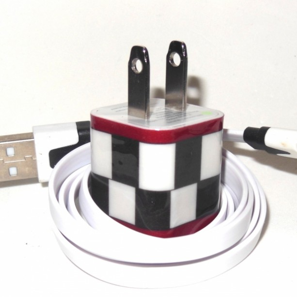 Checkered Cell Phone Charger
