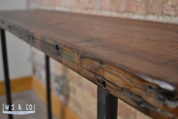 Reclaimed Wood Console Table Decor