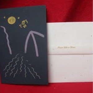 Set of 4 Silk-screened Greeting Cards