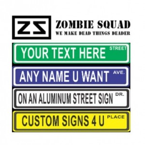 print a personalized mini street sign