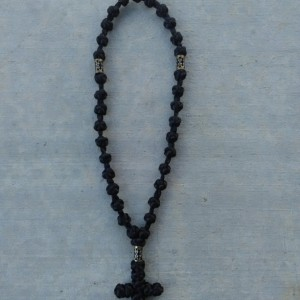 komboskini/orthodox prayer rope 33 knot- traditional black