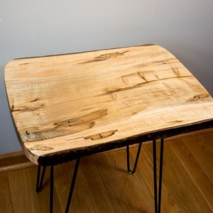 Natural Edge, Live Edge Ambrosia Maple End Table