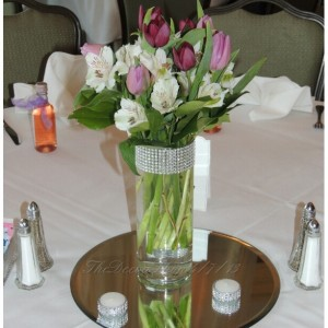 Glass Cylinder Vases, Bling Wedding Centerpieces, Silver Rhinestone Tall Vases, Bling Bouquet Candle Holders, Shower Party Bling Decor, 5 PC