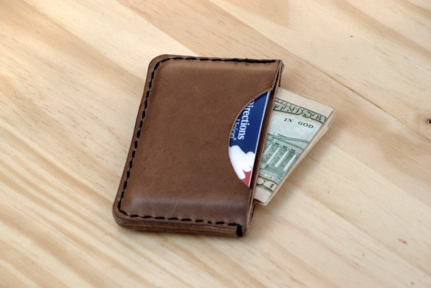 Leather Card Holder, Horween Leather Slim Wallet, Leather Minimalist Wallet, Leather Card Wallet, Chromexcel Leather Wallet, Gift Idea