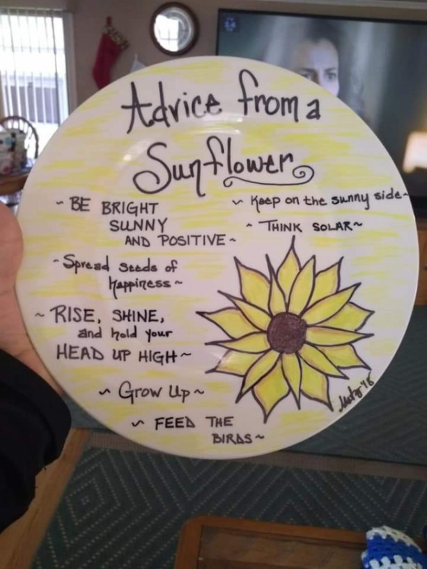 """Advice from a Sunflower"""