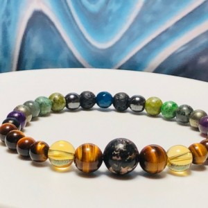 Mens Self-Confidence Bracelet  |  Holistic  |  Reiki  |  Support  |  Confidence  |  Protection |  Energy  |  Strength  |  Courage