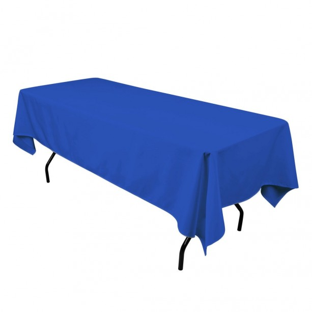 60 x 126 inch Royal Blue Rectangular Tablecloth Polyester | Wedding Tablecloth