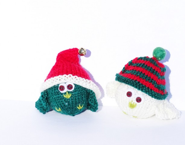 Tree Ornaments Hand Knitted Christmas Decorations Aftcra