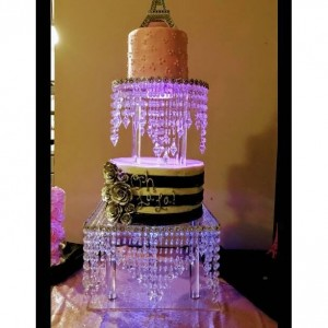 2 Tier Chandelier Cake Stand