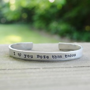 I Love You More Than Tacos Bracelet