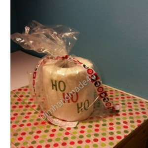 HO HO HO Embroidered Toilet paper. Great gift! Comes gift wrapped!