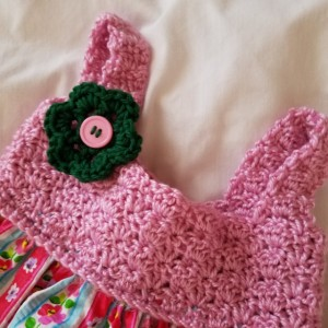 Exclusively Yours-Handmade Girl Dresses-Fits size 3T-4T, Hand Crocheted Designed Bodice