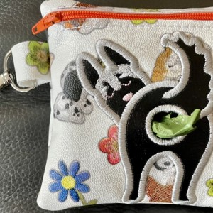 DOGGIE POOP BAG HOLDER With Roll of Bags. Fun gift for Your Doggie Owner Friends