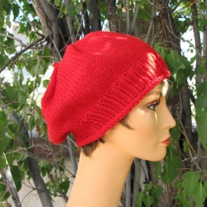 Classic Red Wool Beret