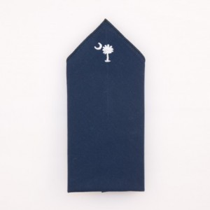 Pocket Square - Navy - SC Embroidery
