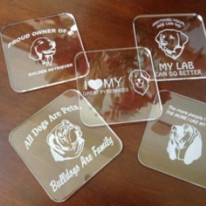 The Tool Store >> Custom Engraved Coasters Plastic Clear Acrylic Set of (6 ...