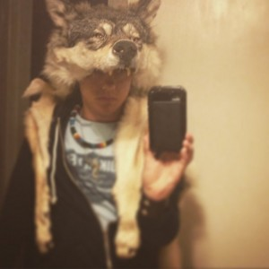Wolf headdress mounted head w teeth feet and claws Native American MADE TO ORDER