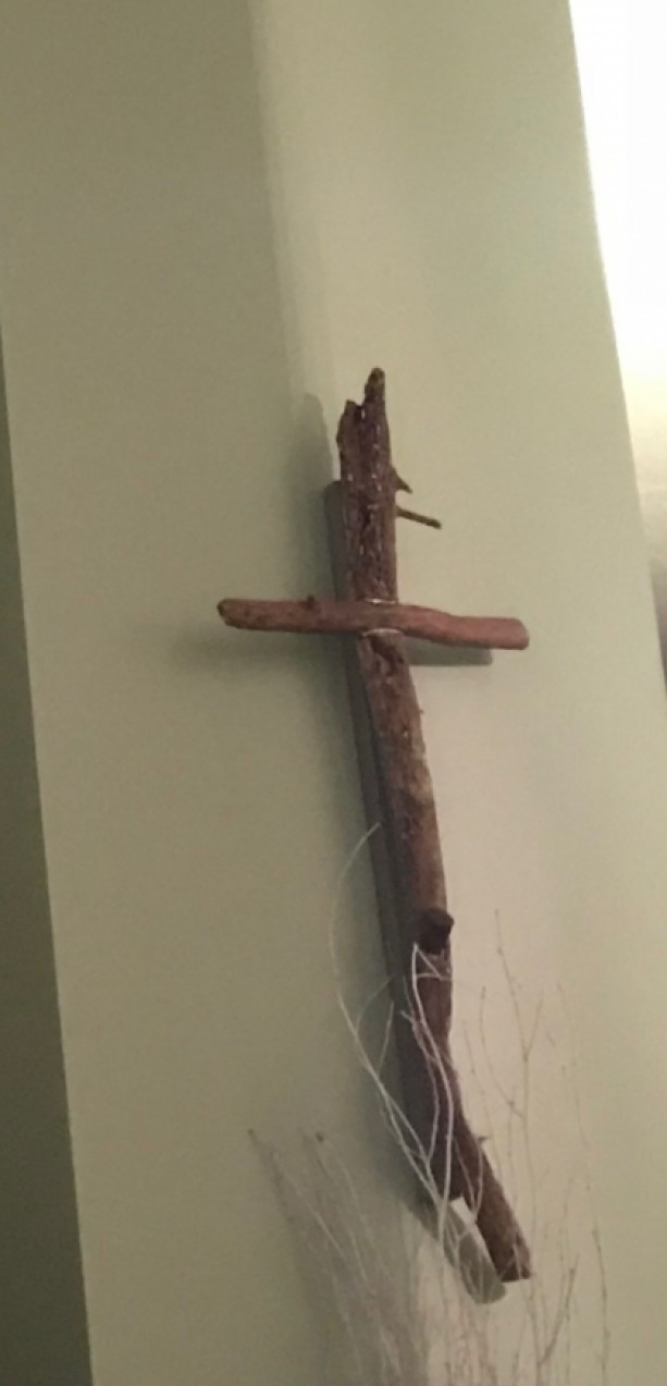 Handcrafted Cross Made from New England Atlantic Driftwood - Wall Hanging - Silver Inlay - Each Piece Completely One-of-a-Kind!