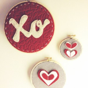 Made to Order Embroidery Hoop Art: Hand-Stitched XO