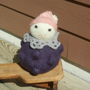 Knit Doll, Waldorf Doll, Stuffed Doll, Nursery Decor, Home Decor, Soft Doll, Plushes, Knitted Fantasy Doll