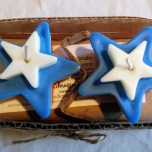 Set of Two Handmade 3.5 oz Unscented Independence Day Stars
