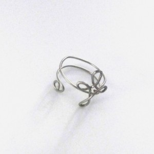 Wire Wrapped Cross Ring