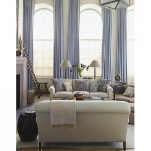 Porcelain Blue dupioni silk draping