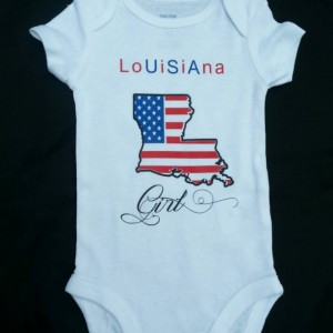 Louisiana Girl Toddler T-Shirt USA 4th of July