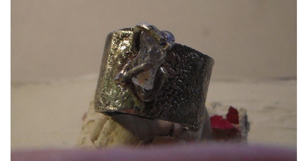 Adjustable Reticulated Diamond Ring