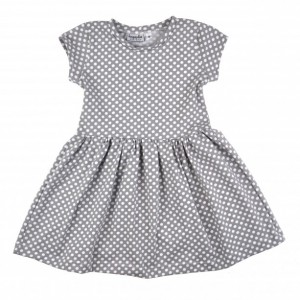 Alice Play Dress | Gray Polka Dot
