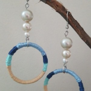 Ocean Cap Ring Earrings