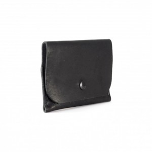 Horween Leather Snap Wallet in Black