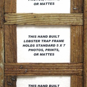 Handmade Lobster Trap Picture Frame