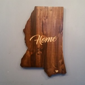 Rustic Mississippi State Sign