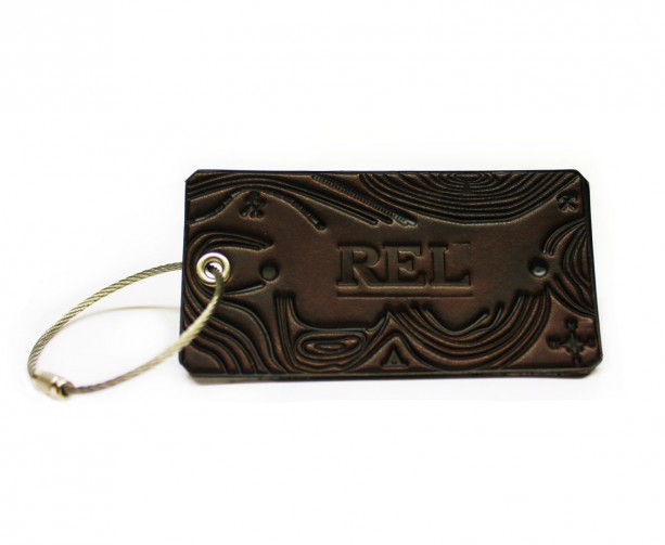 Topo Tag -- Custom Leather Luggage Tag